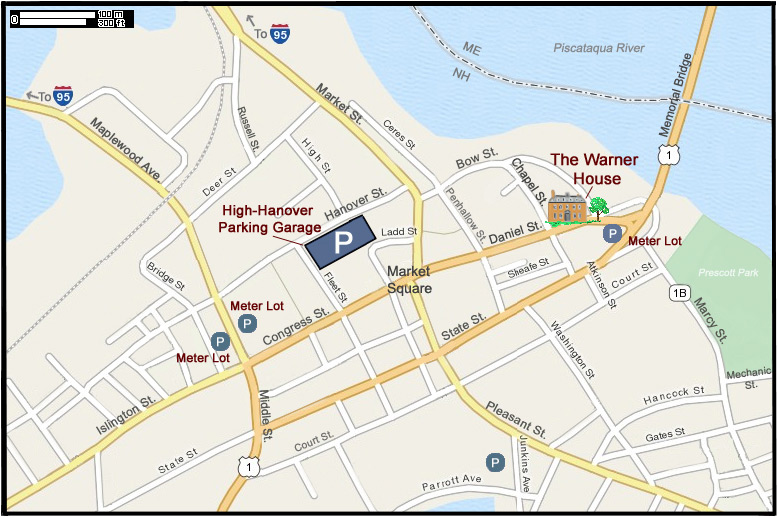 Warner House Parking and Directions