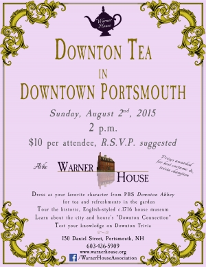 Downton Tea In Downtown Portsmouth, Aug. 2 at 2 p.m.