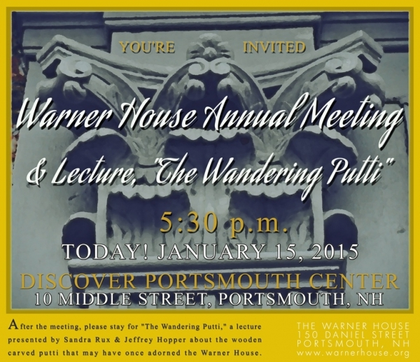 Warner House Annual Meeting 2015